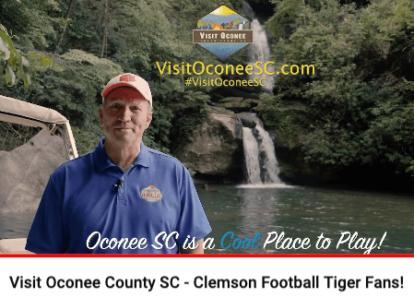 screenshot of Ken Sloan video about proximity to Clemson