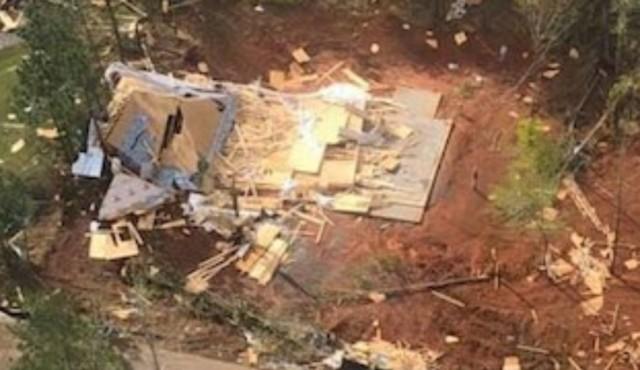 image of tornado damage