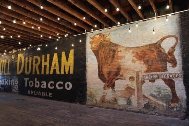 photo of Bull Durham wall mural