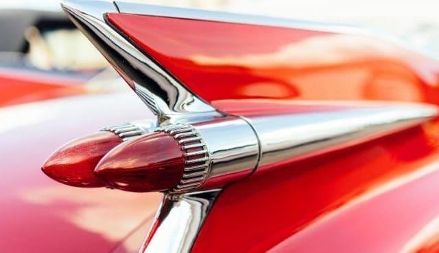 image of vintage car tail lights