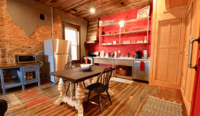 photo of the kitchen in Walhalla Studio loft over main