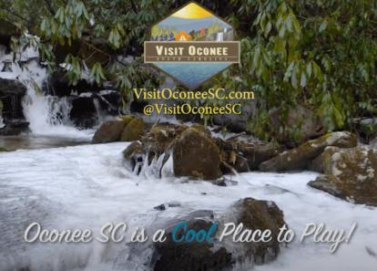 image from frozen places video taken winter 2019 in Oconee County, SC