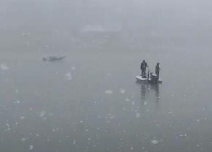 image from winter fishing on Lake Keowee
