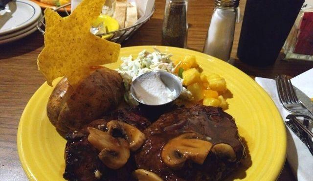 Photo of steak dinner from Dakota Grill