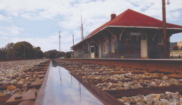 photo of seneca train depot