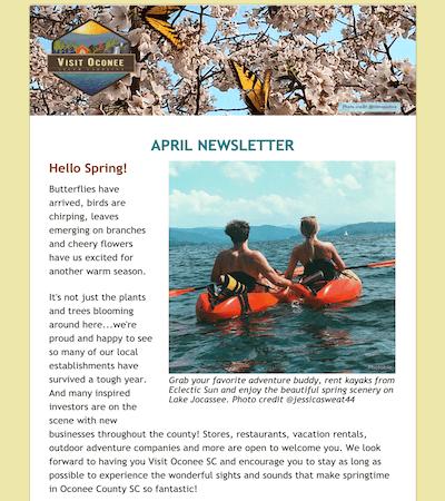 image of April 2021 newsletter
