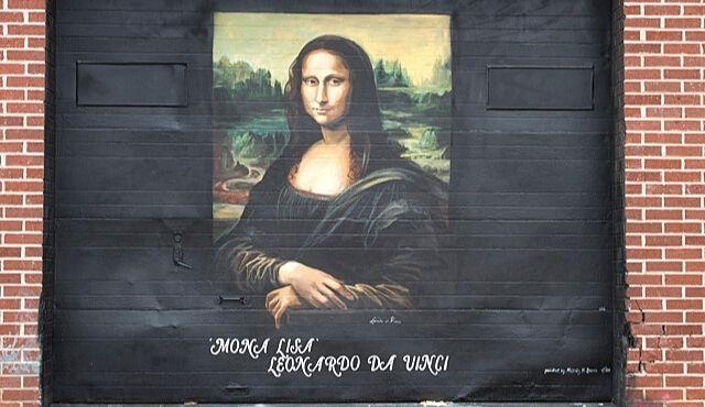 image of mona lisa mural in Westminster