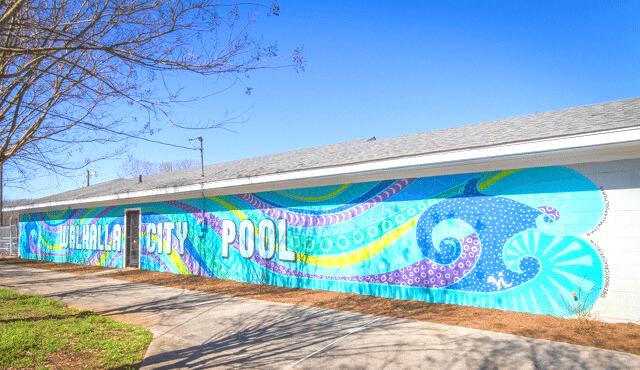 photo of City Pool mural