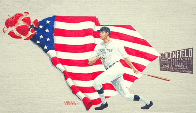photo of home run mural