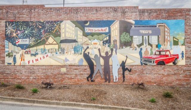photo of Mural titled Seneca Cityscape