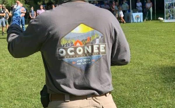 Tom Mullikin wearing oconee shirt