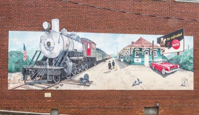 Photo of Train and Seneca Depot by Jim Juras
