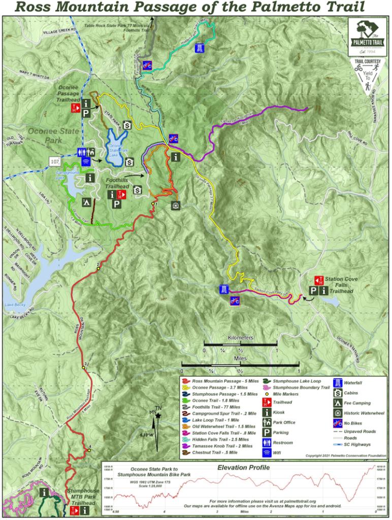 screenshot of Ross Mountain Passage map