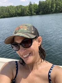 photo of chanda morrison on the lake