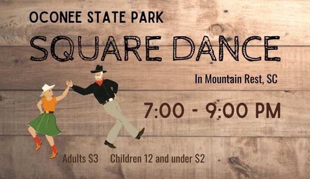 flier for Oconee State Park square dances