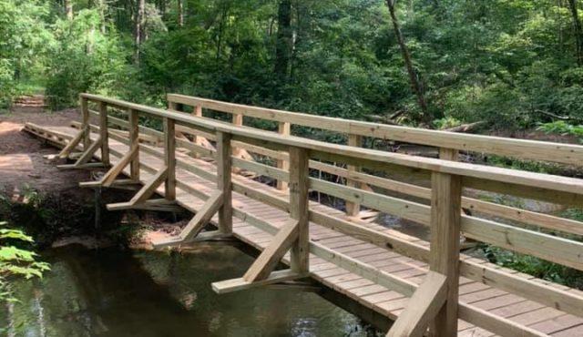 photo of bridge over creek