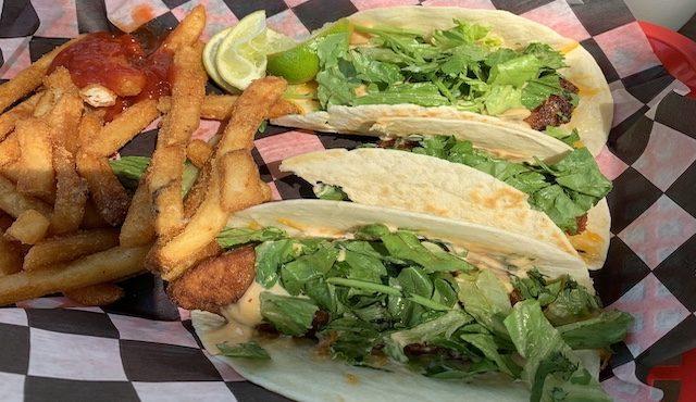 photo of fish tacos at The Grill at Clemson Marina