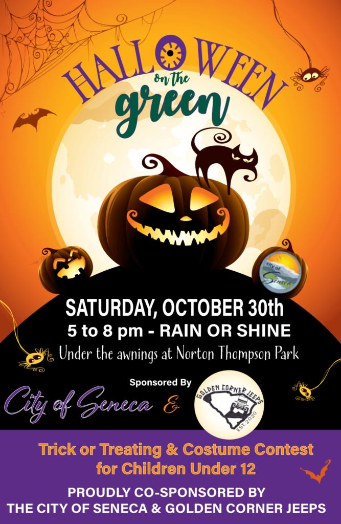 Halloween on the Green event flier